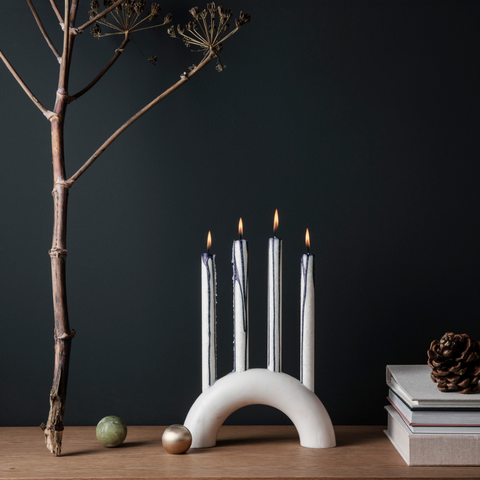 Modern Centerpiece Ideas - Bow Marble Candle Holder | Ferm Living | Batten Home