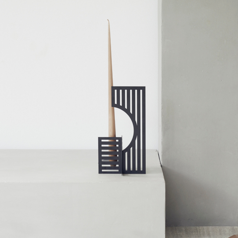 Modern Centerpiece Ideas - Geometric Candle Holder | Dash Candlestick Holder | Kristina Dam Studio | Batten Home