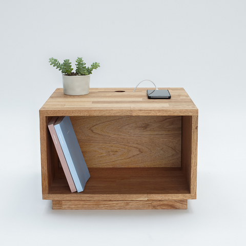 solid walnut nightstand | LAXseries solid wood modern furniture | Batten Home