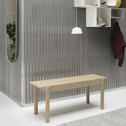 Linear Wood Bench - MUUTO | Modern benches, bench with storage, entryway benches | Batten Home - Modern Scandinavian Home Decor and Furniture from Danish Design Brands