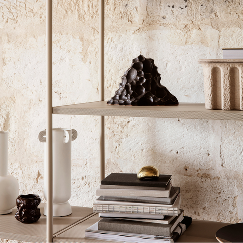 Shelf styling - how to style shelves | Berg Sculpture by Ferm Living