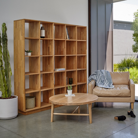 large walnut bookcase | LAXseries solid wood modern furniture | Batten Home