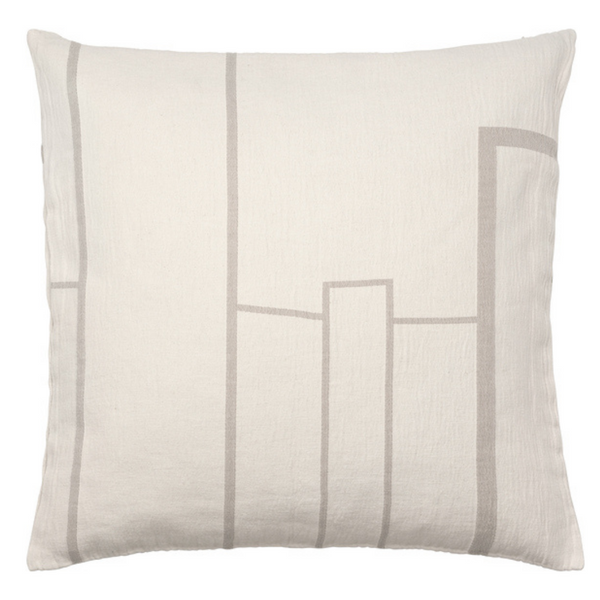 Architecture Cushion Large - Off White / Beige