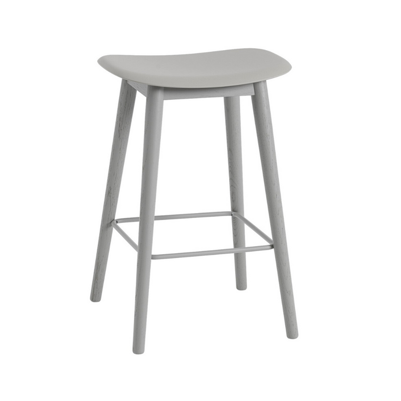 MuutoFiber Bar Stool - Wood Base - Batten Home