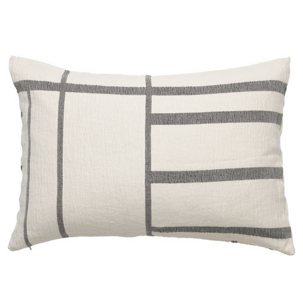 Architecture Cushion - Off White / Black Melange