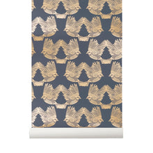 Load image into Gallery viewer, Ferm LivingBirds Wallpaper Deep Blue/Gold - Batten Home
