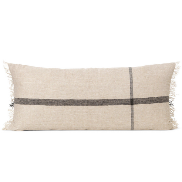 Ferm LivingCalm Cushion 38x88 - Camel / Black - Batten Home
