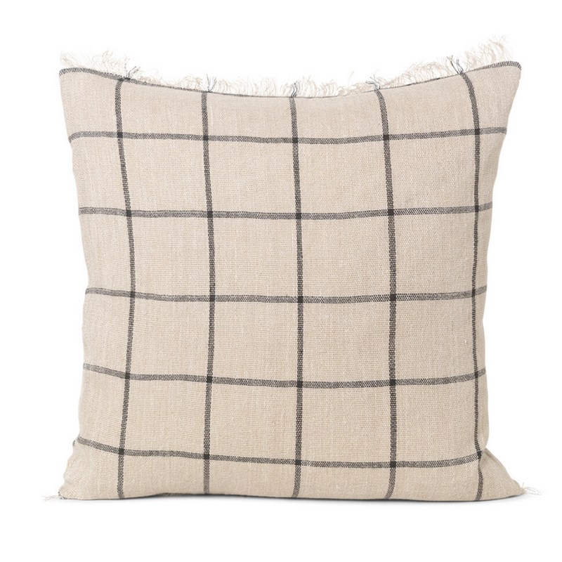 Ferm LivingCalm Cushion 48x48 - Camel / Black - Batten Home