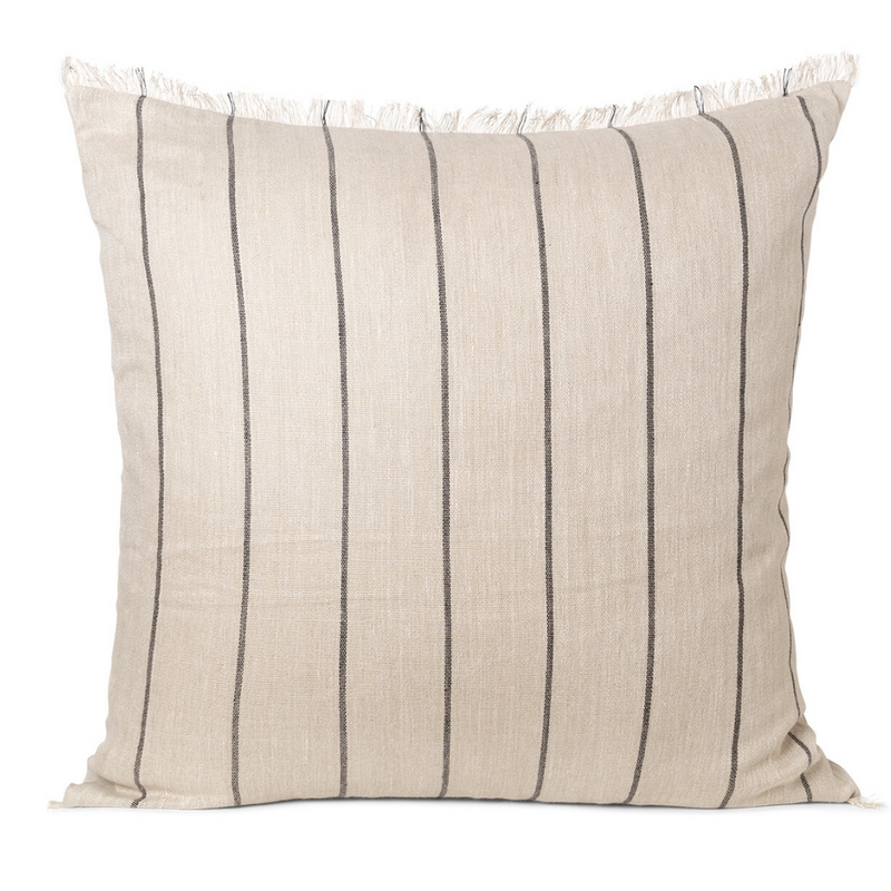 Ferm LivingCalm Cushion 78x78 - Camel / Black - Batten Home
