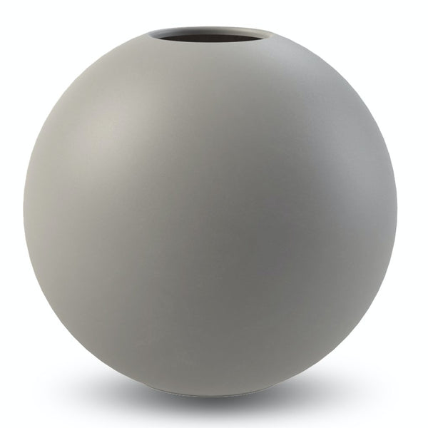 Ball Vase Grey 20cm