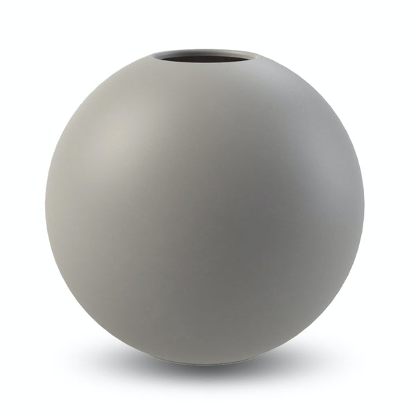 Ball Vase Grey 30cm