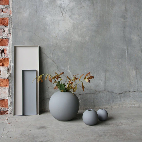 Ball Vase Grey 8cm