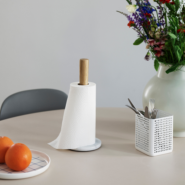 The Craft Paper Towel Holder is just one piece of the beautiful collaboration between Normann Copenhagen and Danish designer Simon Legald. The Craft Collection offers a variety of kitchen essentials, made of quality materials that are suitable for everyday use.