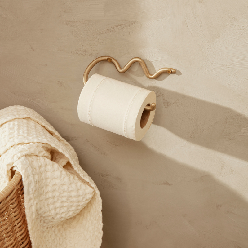 Curvature Toilet Paper Holder - Brass