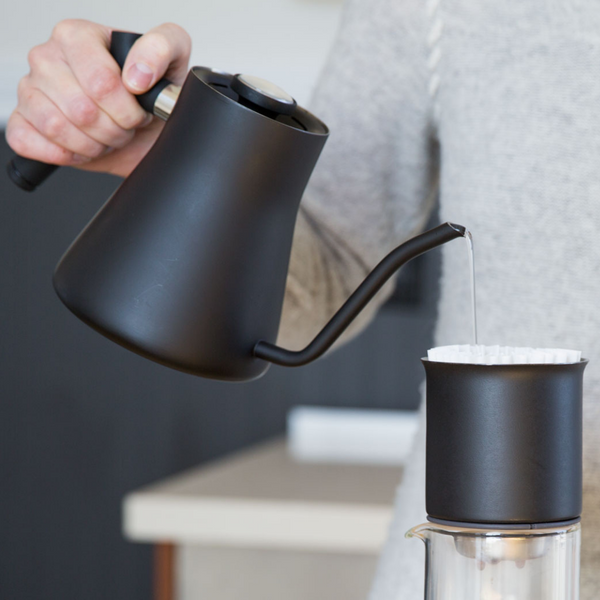 The Fellow Stagg Pour-Over Kettle is the perfect addition to your morning ritual and elevates the way you enjoy your coffee, day or night. We love how intuitive the Stagg performs, with a weighted handle that provides balance and the easy-to-read temperature gauge.