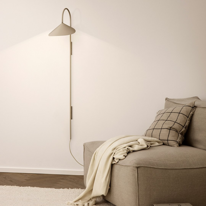 Ferm LivingArum Tall Wall Lamp - Cashmere - Batten Home