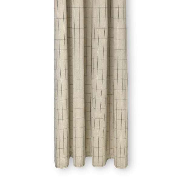 Ferm LivingChambray Shower Curtain Grid Sand - Batten Home