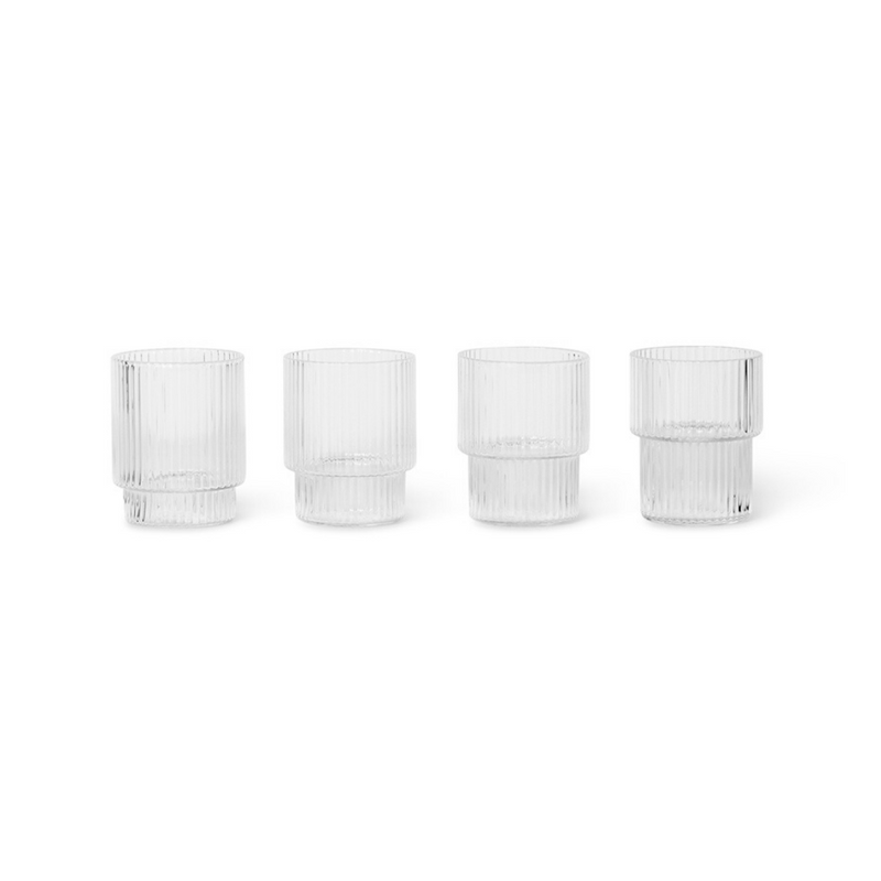 Ferm LivingRipple Small Glass Set - Batten Home