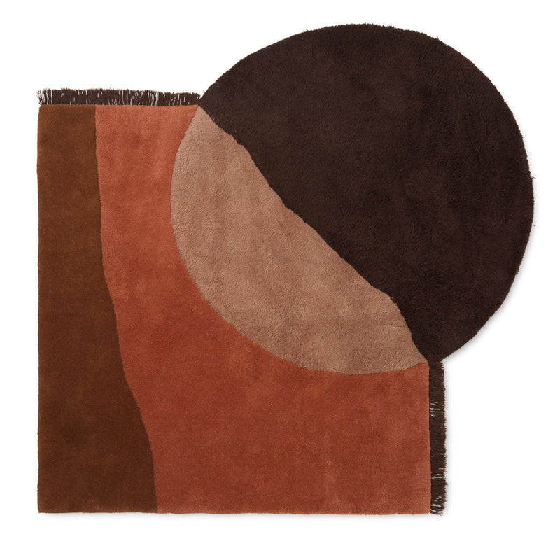 Ferm LivingView Tufted Rug Red Brown - Batten Home