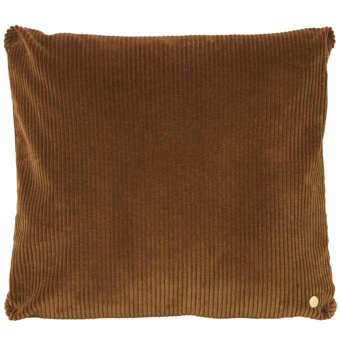 Ferm LivingCorduroy Cushion Golden Olive - Batten Home