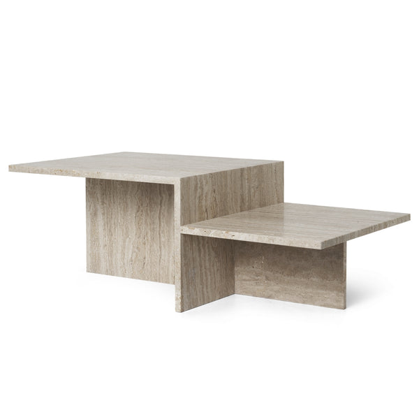 Ferm LivingDistinct Coffee Table - Travertine - Batten Home