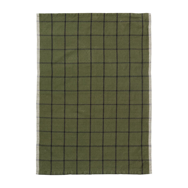 Ferm LivingHale Tea Towel Green | Black - Batten Home