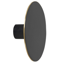 Load image into Gallery viewer, Ferm LivingHook Black Brass Flat Circle - Batten Home