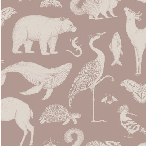 Ferm LivingKatie Scott Wallpaper Animal Dusty Rose - Batten Home