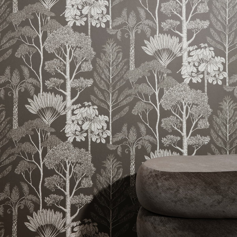 Ferm LivingKatie Scott Wallpaper Trees Brown Grey - Batten Home