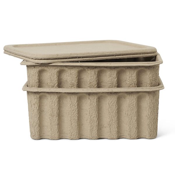 Ferm LivingLarge Paper Pulp Boxes |Set of 2 - Batten Home