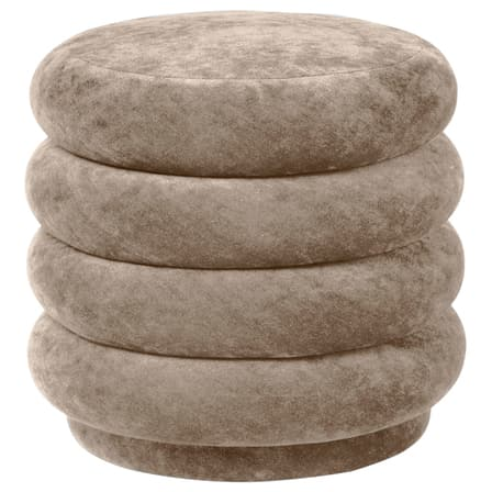 Ferm LivingPouf Faded Velvet Small Beige - Batten Home