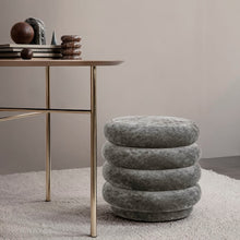 Load image into Gallery viewer, Ferm LivingPouf Faded Velvet Small Concrete - Batten Home