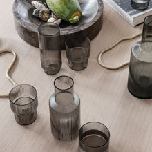 Load image into Gallery viewer, Ferm LivingRipple Long Drink Glass Set in Smoked Grey - Batten Home