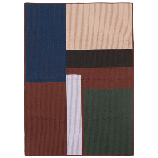 Ferm LivingShay Patchwork Quilted Blanket - Batten Home