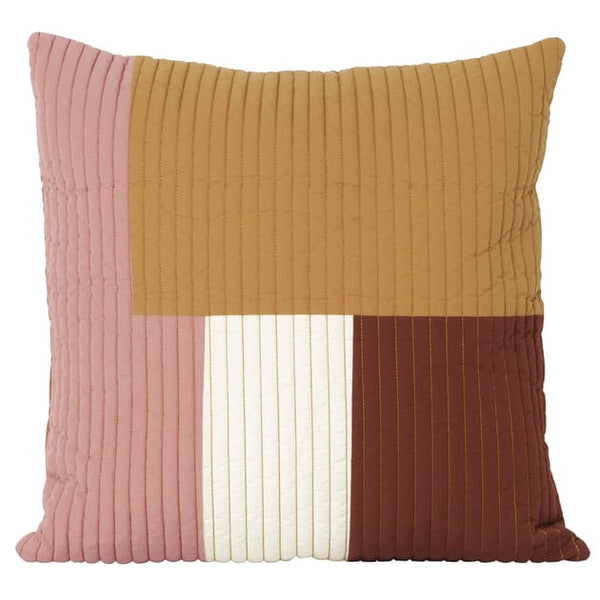Ferm LivingShay Quilted Cushion Mustard - Batten Home