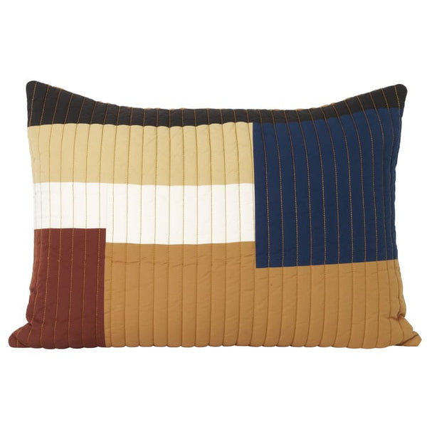 Ferm LivingShay Rectangle Quilted Cushion Mustard - Batten Home