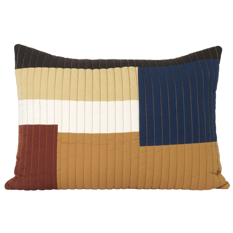 Shay Rectangle Quilted Cushion Mustard - Batten Home