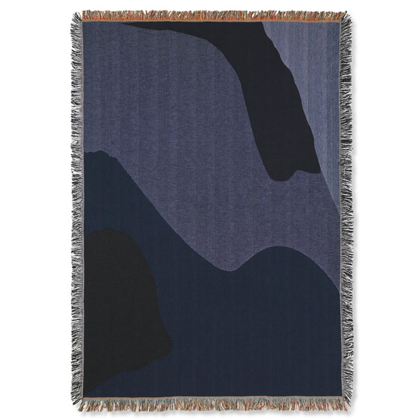 Ferm LivingVista Blanket Dark Blue - Batten Home