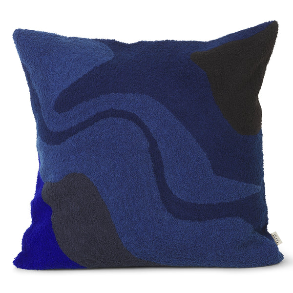 Ferm LivingVista Cushion Dark Blue - Batten Home