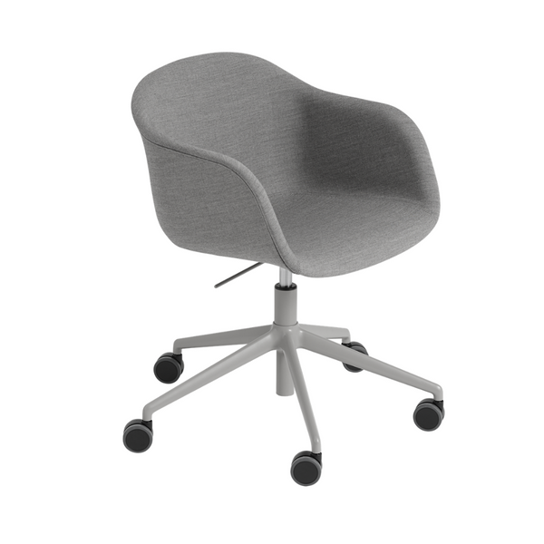 MuutoFiber Armchair - Swivel Base with Castors & Gas Lift - Batten Home