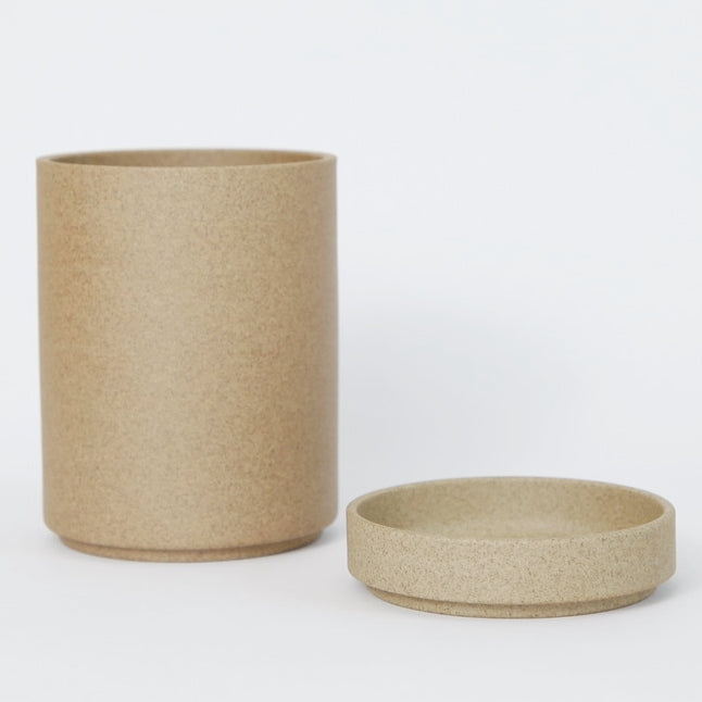 Hasami PorcelainSmall Planter and Saucer Set in Natural - Batten Home
