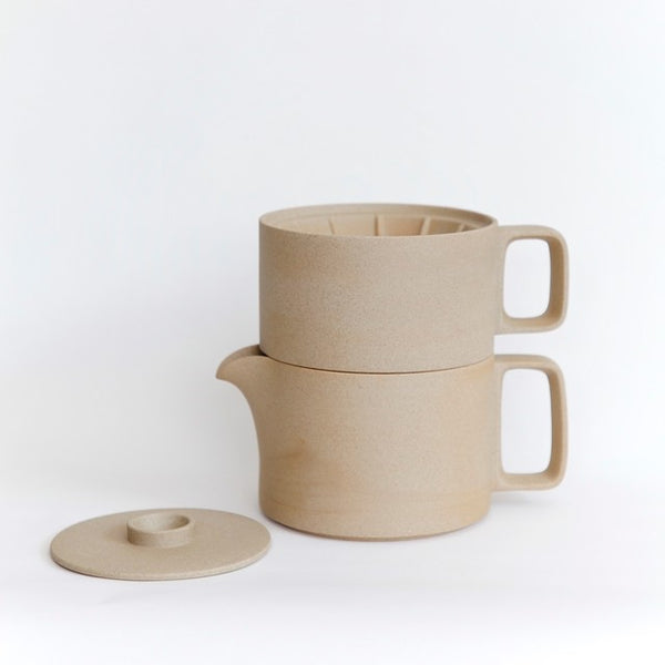 Hasami PorcelainCoffee Dripper in Natural - Batten Home