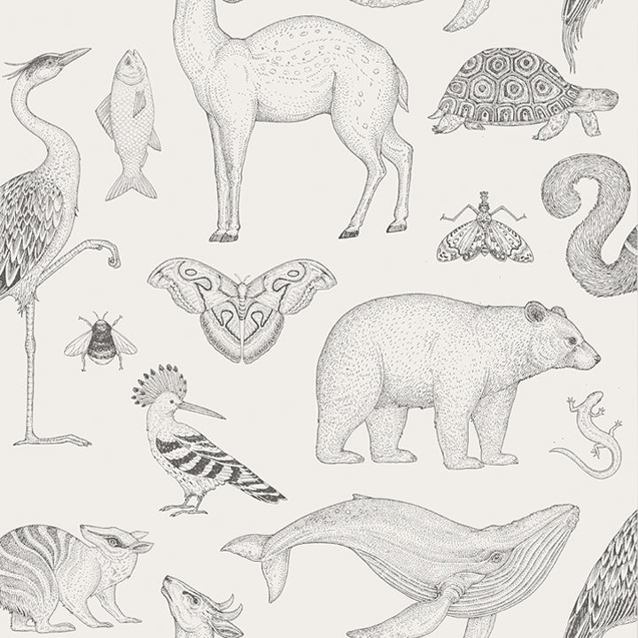 Ferm LivingKatie Scott Animals Wallpaper Off White - Batten Home