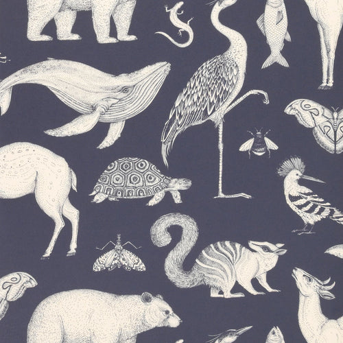 Ferm LivingKatie Scott Wallpaper Animal Dark Blue - Batten Home