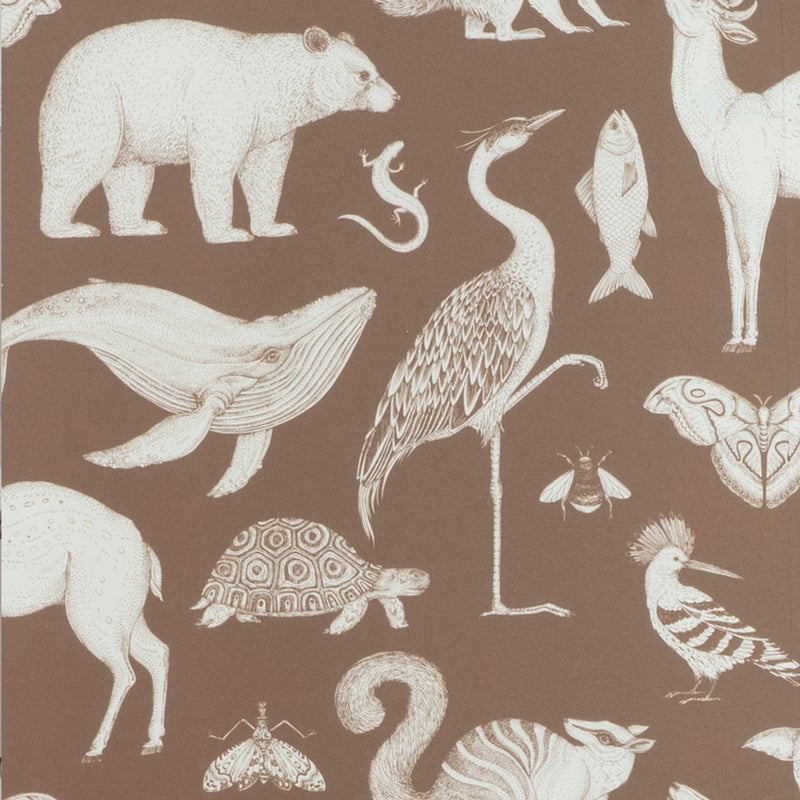 Ferm LivingKatie Scott Wallpaper Animal Toffee Brown - Batten Home