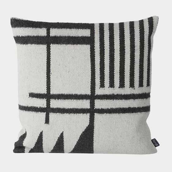 Ferm LivingKelim Cushion Black Lines - Batten Home