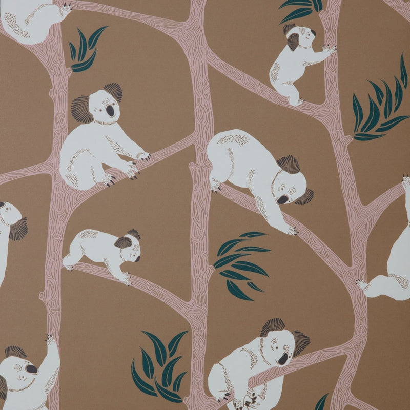 Ferm LivingKoala Wallpaper Mustard - Batten Home