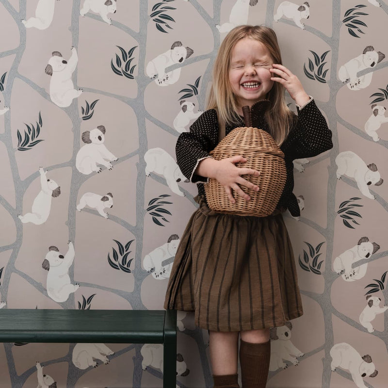 Koala Wallpaper Grey - Batten Home