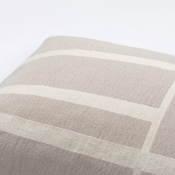 Architecture Cushion - Beige / Off White