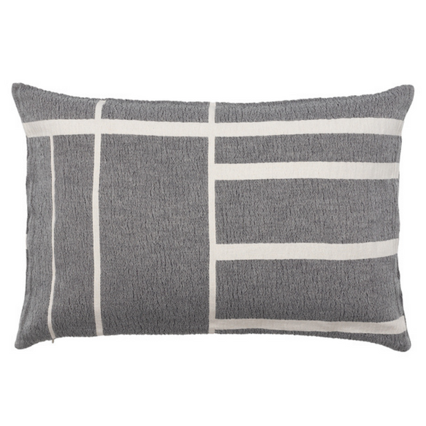 Architecture Cushion - Black / Off White